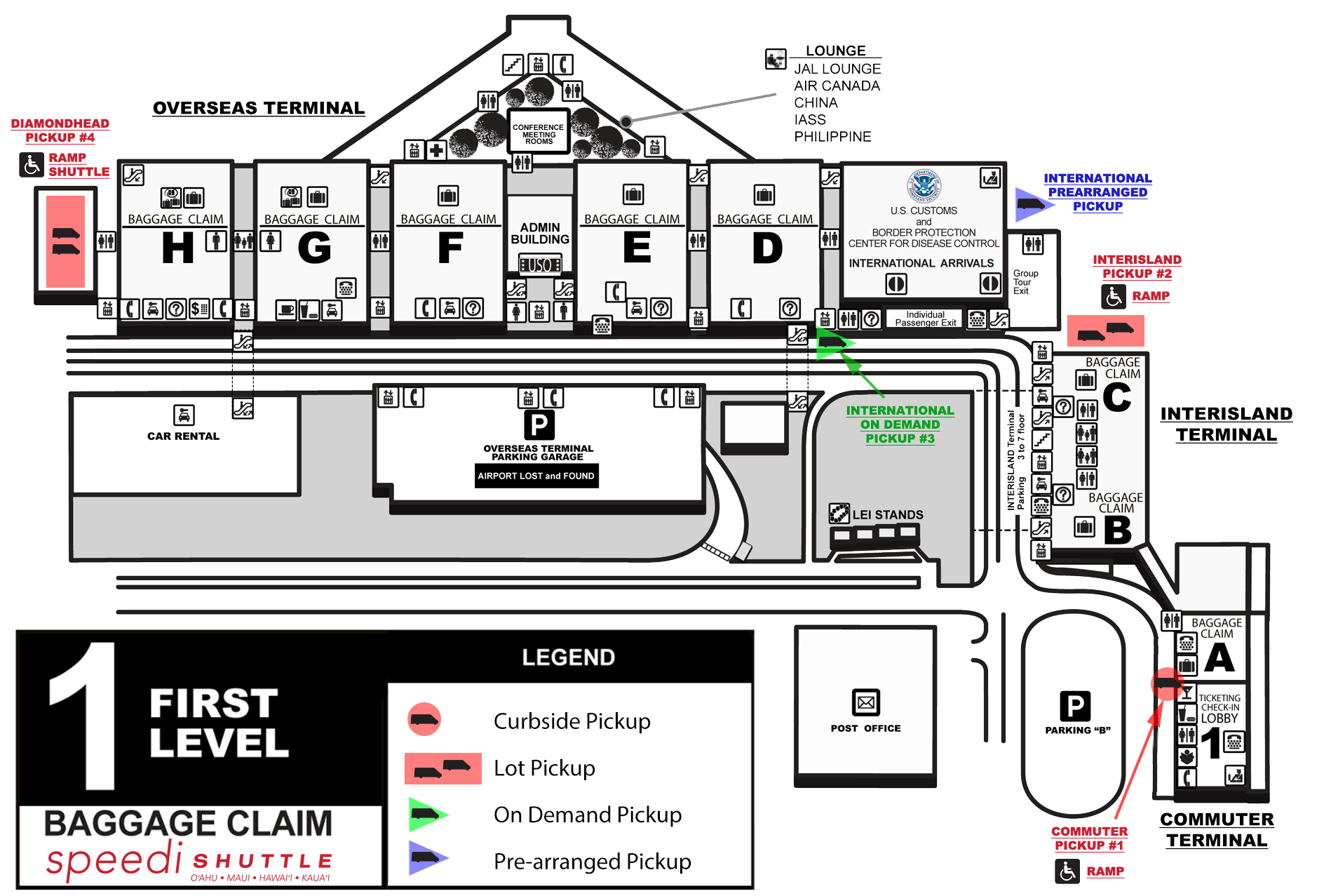 SpeediShuttle Airport Map